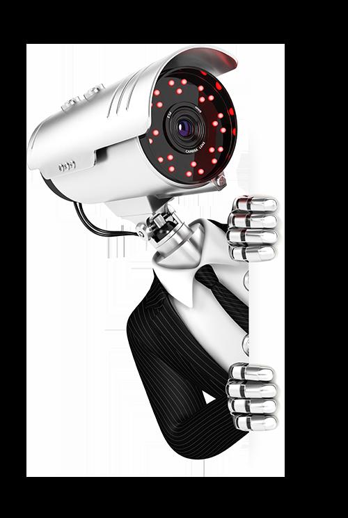 Illustration d'un agent de sécurité vidéosurveillance