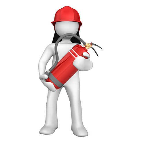 Illustration d'un agent de sécurité incendie